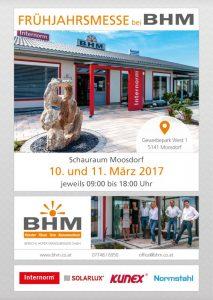 BHM Hausmesse in Moosdorf am 10. + 11.03.2017